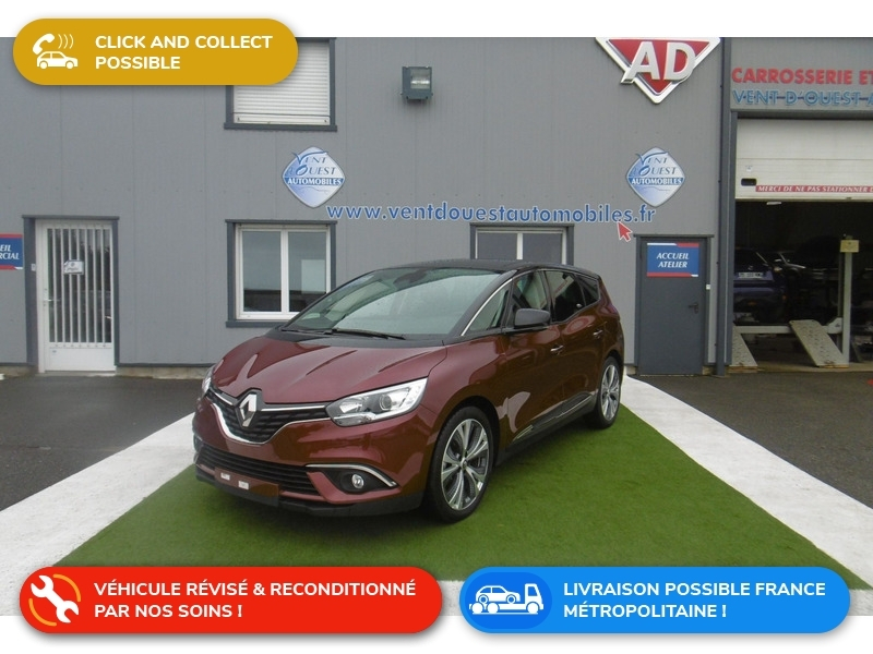 Renault GRAND SCENIC IV 1.7 BLUE DCI 120CH INTENS 7 PLACES Diesel ROUGE FONCE METAL Occasion à vendre