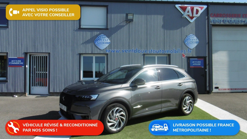 Ds DS 7 CROSSBACK PURETECH 180CH PERFORMANCE LINE AUTOMATIQUE 10CV Essence GRIS PLATINIUM Occasion à vendre