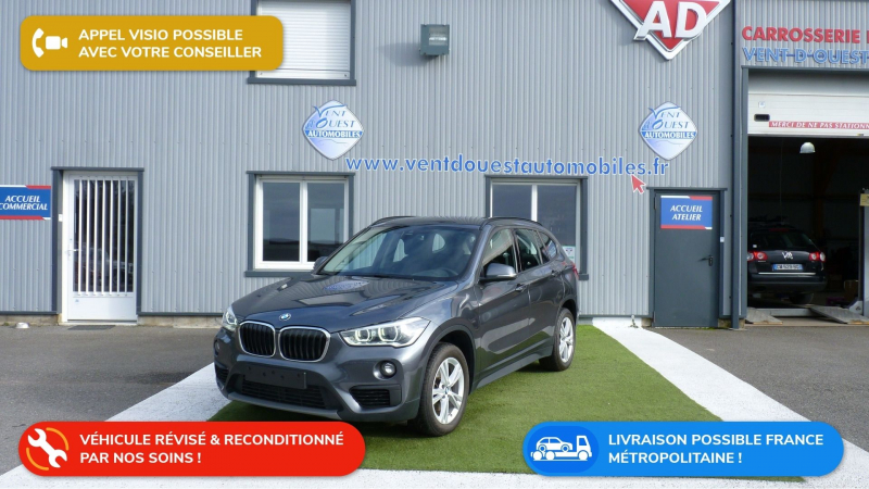 Bmw X1 (F48) SDRIVE18D 150CH BUSINESS DESIGN Diesel GRIS FONCE METAL Occasion à vendre