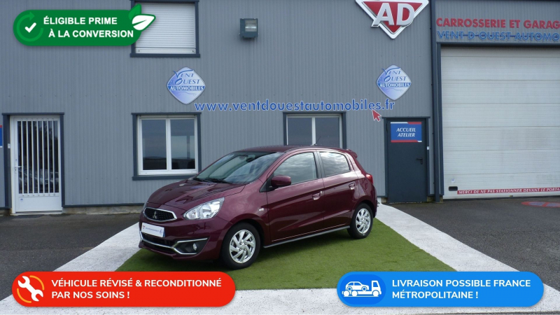 Mitsubishi SPACE STAR 1.2 MIVEC 80CH AS&G INVITE 2019 Essence ROUGE METAL Occasion à vendre