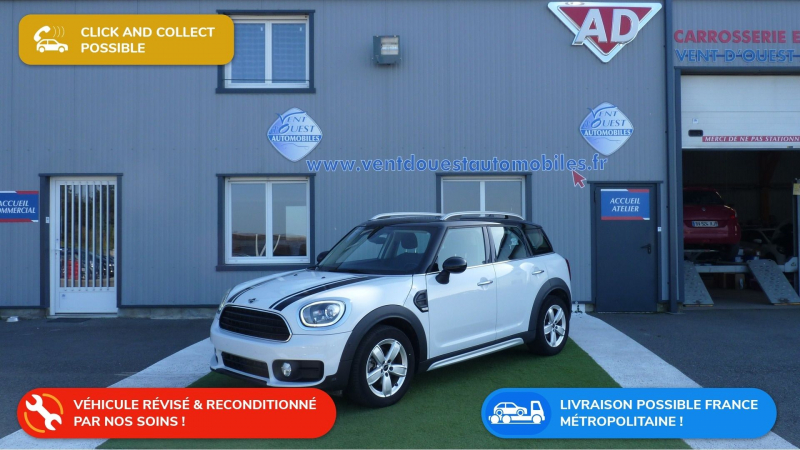 Mini COUNTRYMAN COOPER 136CH BUSINESS Essence BLANC Occasion à vendre