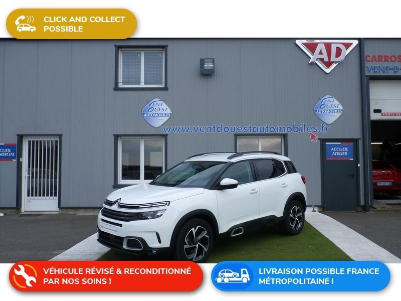 Citroen C5 AIRCROSS BLUEHDI 130CH S&S FEEL EAT8 Diesel BLANC Occasion à vendre